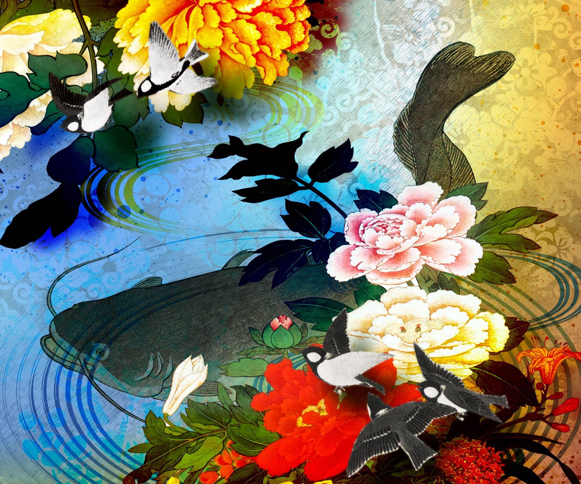HD Heavenly Koi Wallpaper