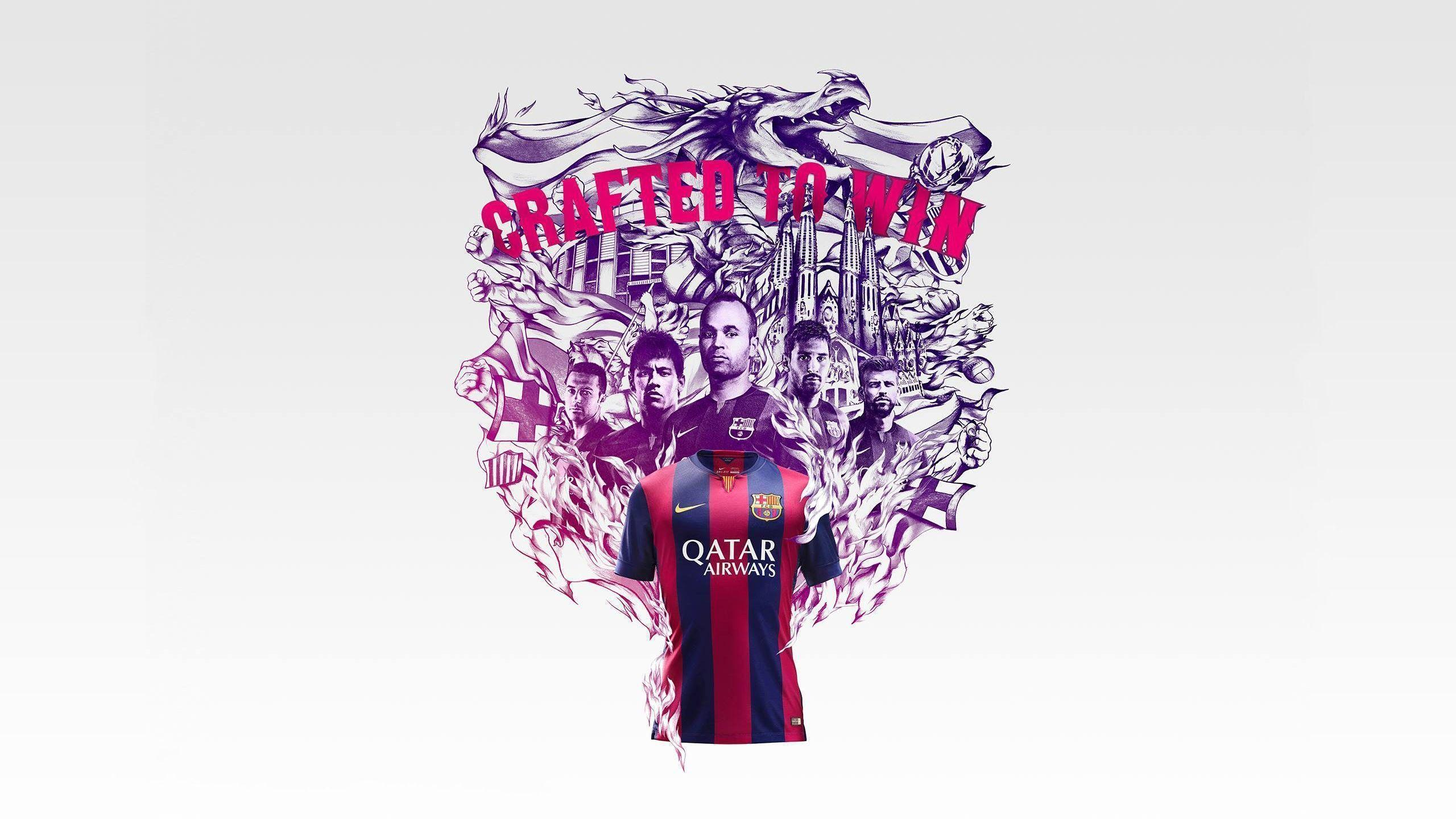 FC Barcelona 2014-2015 New Nike Home Jersey Wallpaper Wide or HD ...