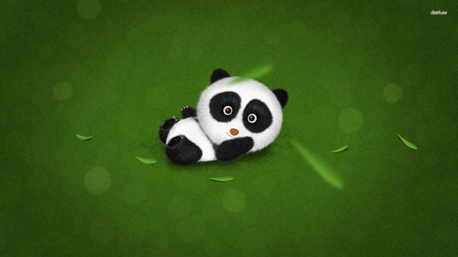 cute panda painting wallpaper - photo #23