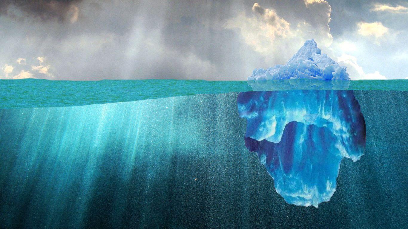 данной фото подводной части айсберга снарядов обеспечивается