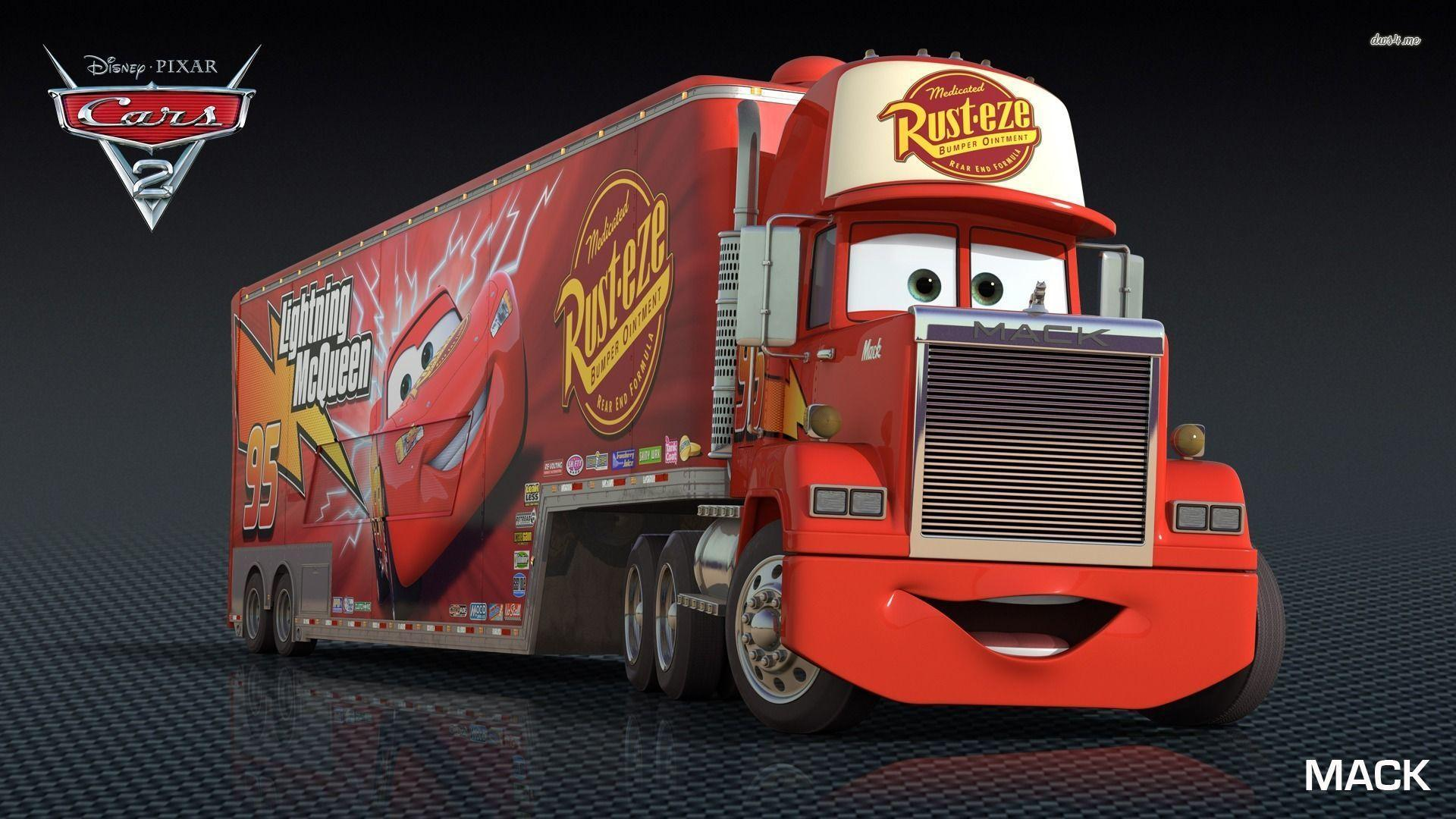 Mack - Cars 2 wallpaper - Cartoon wallpapers - #