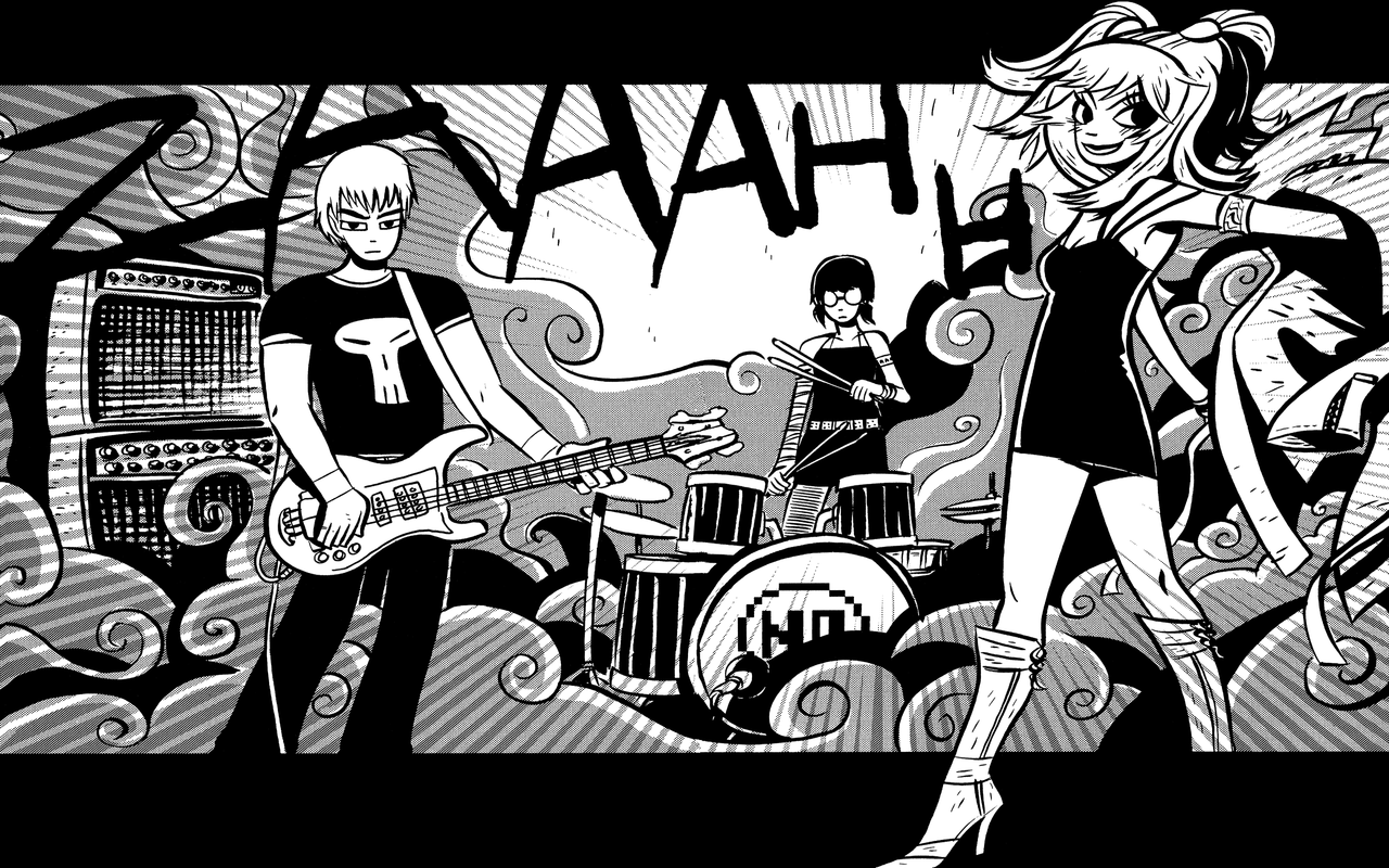 descargar scott pilgrim comic wallpaper