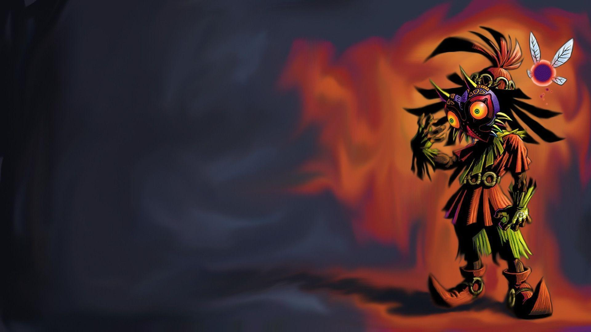 Download Zelda Majoras Mask Nintendo Skull Kid Wallpaper