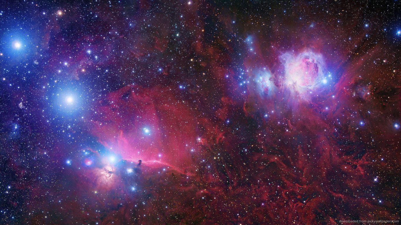 Download 1366x768 Red Space Wallpapers