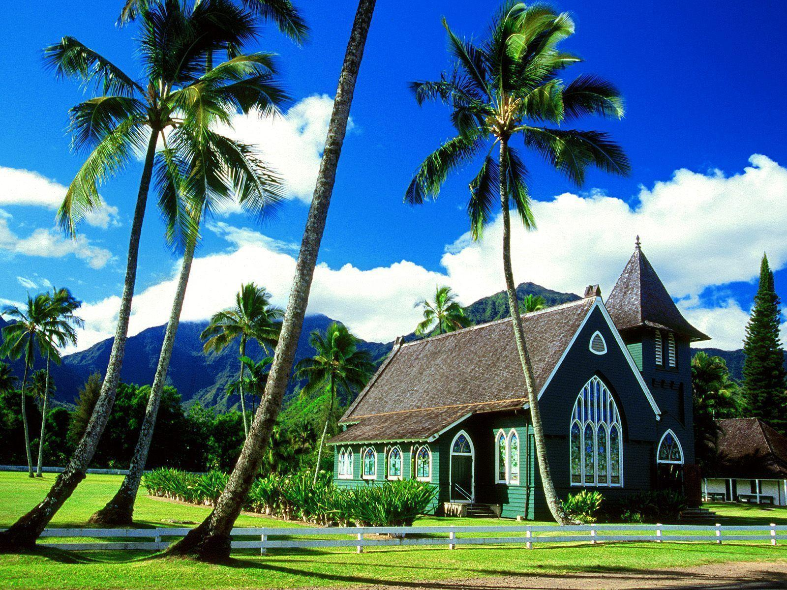 Waioli Huiia Church Hawaii Wallpapers
