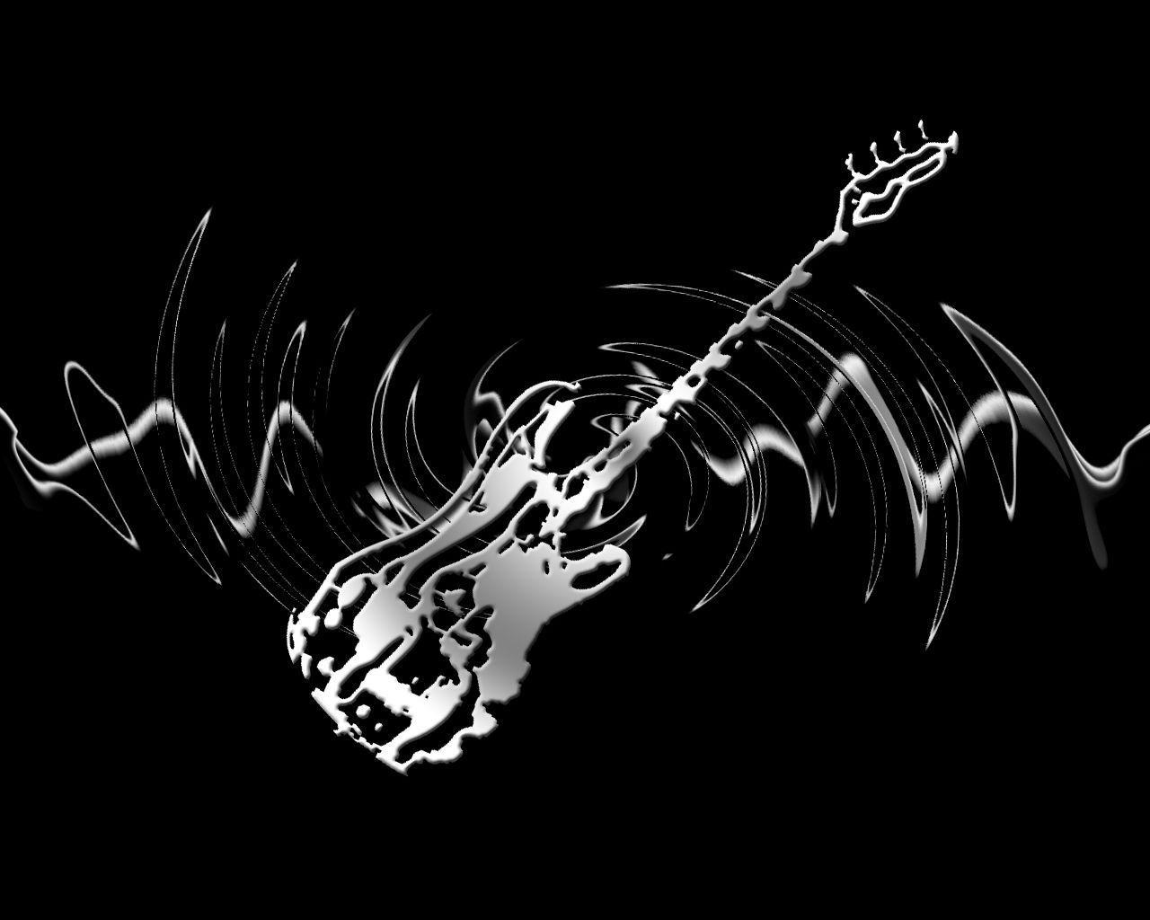 Skeleton Bass Guitar by isaacrtree