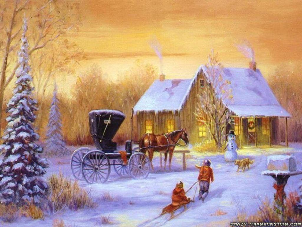 Country christmas wallpapers wallpaper cave for Old fashioned country christmas decorating ideas