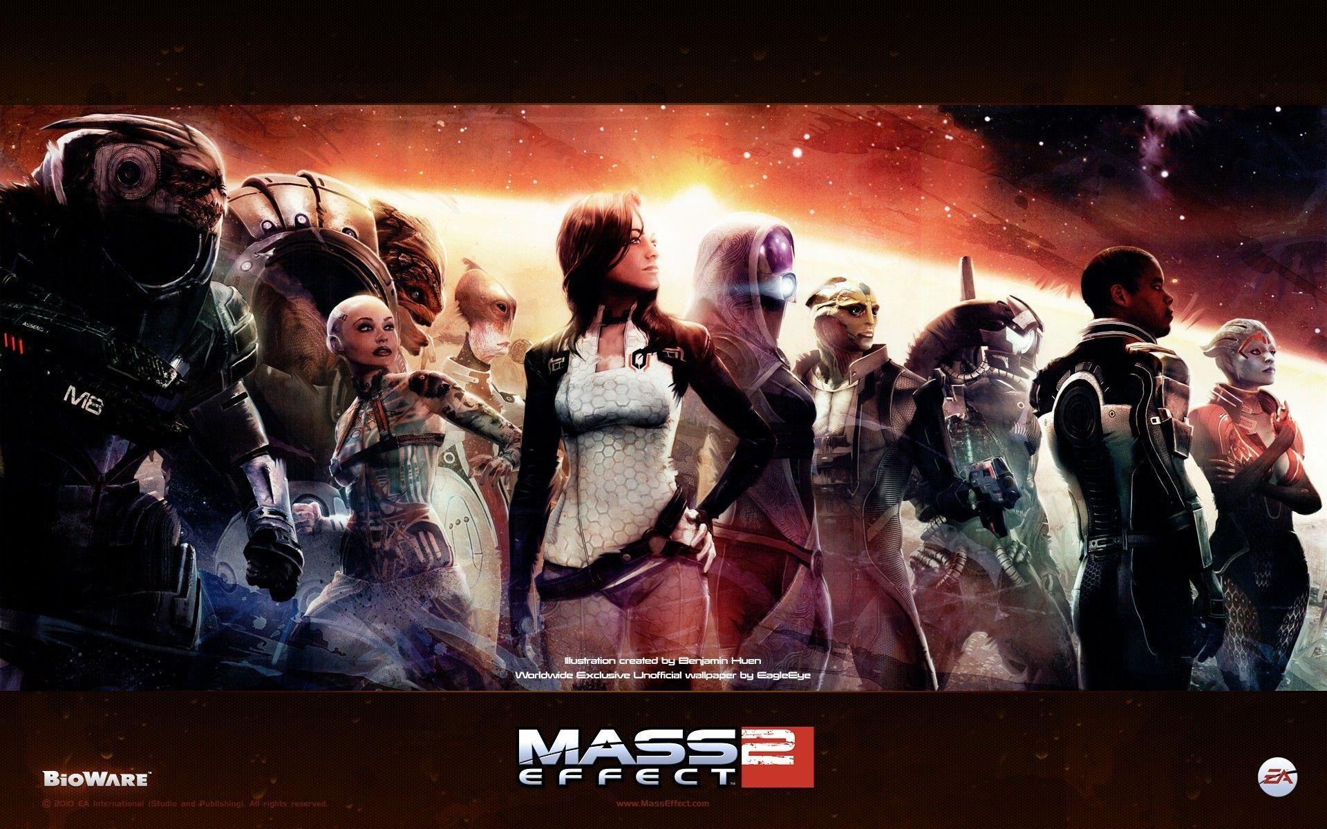 Team Mass Effect 2 characters Squad wallpapers