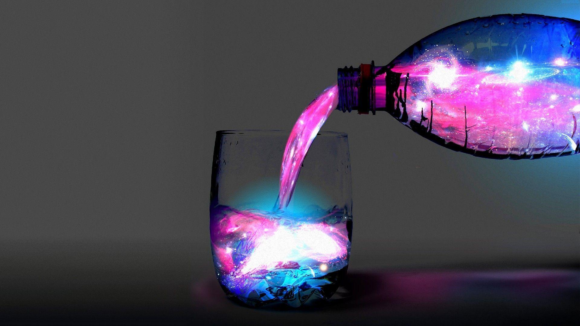 Как сделать светящуюся жидкость без химии