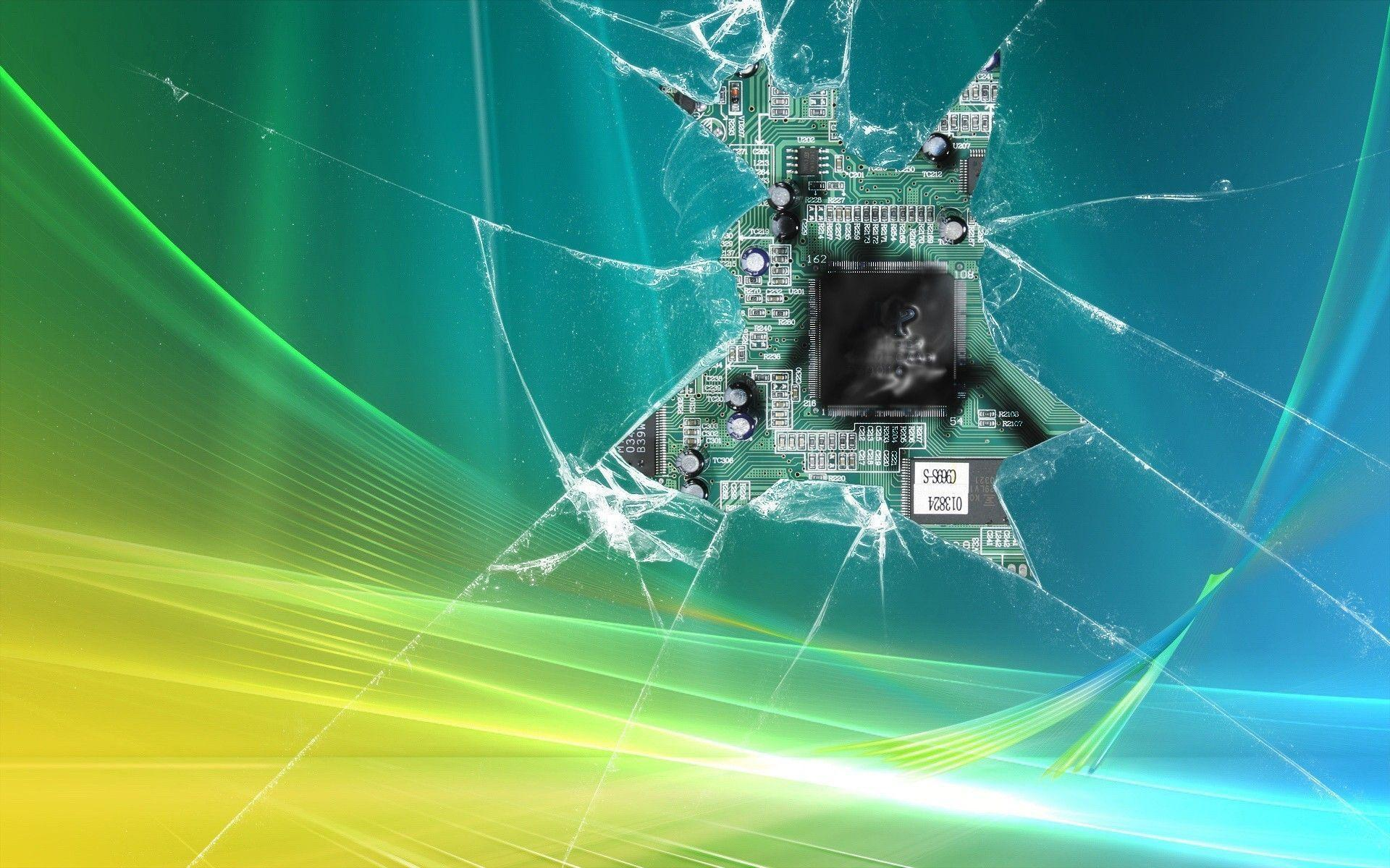 Wallpapers For > Windows Broken Glass Wallpapers