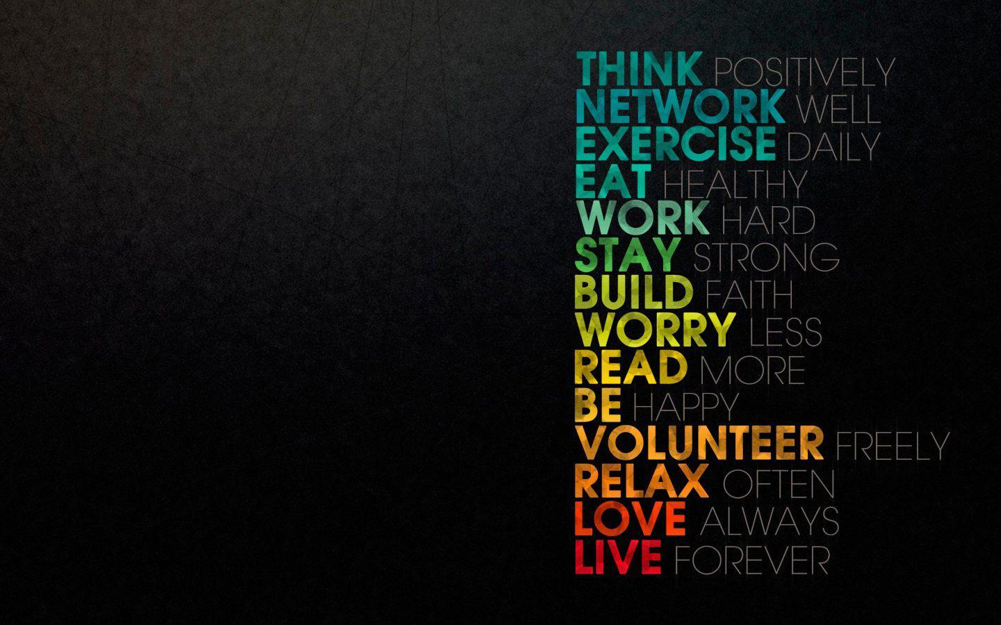 Wallpapers For > Colorful Quote Desktop Backgrounds