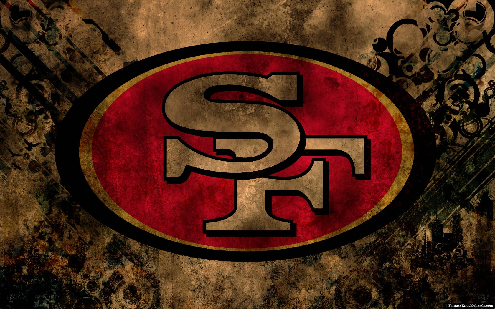 San Francisco 49ers Logo HD Wallpaper in Desktop | Wallpaper HD