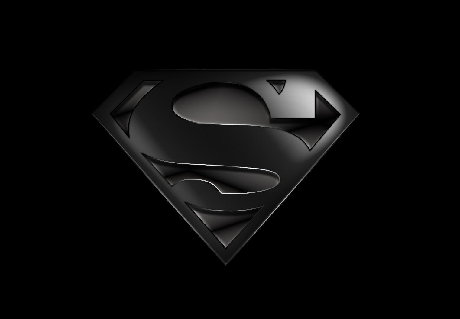 Pics For > Black And White Superman Logo