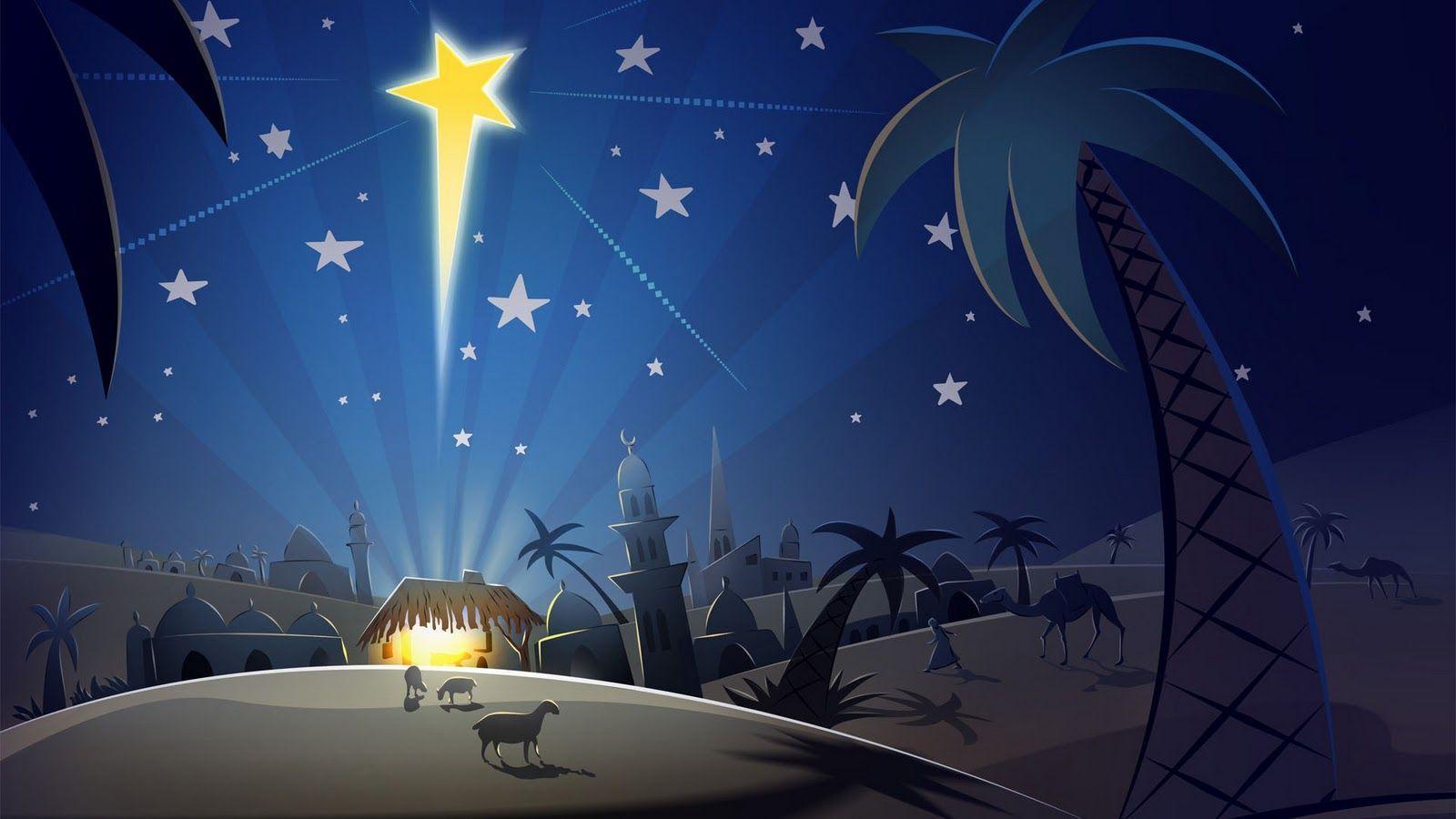 Christmas star wallpapers wallpaper cave - Paysages de noel gratuits ...