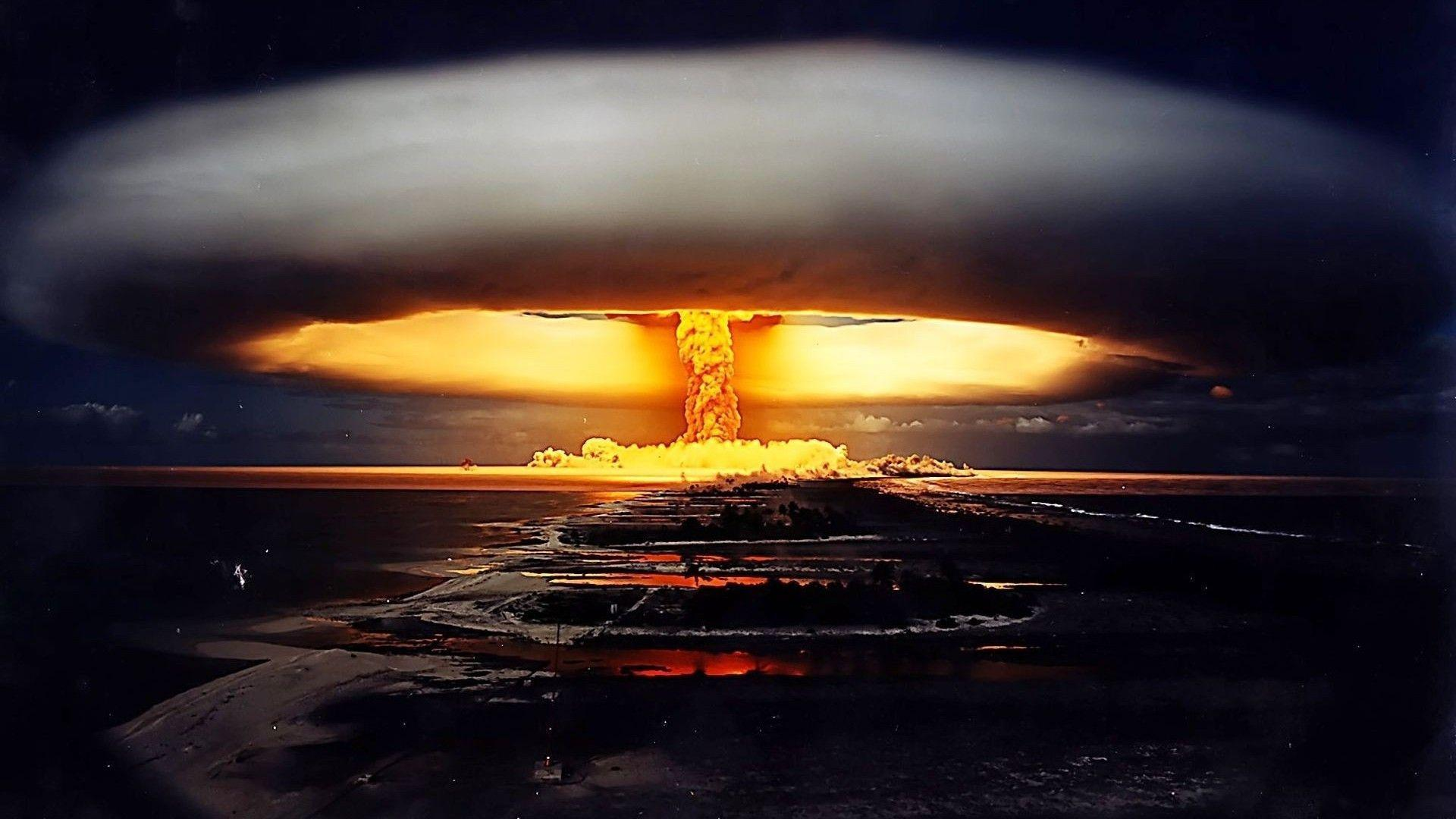 Nuclear Bomb Explosion Wide Wallpaper 1920x1080 | Hot HD Wallpaper