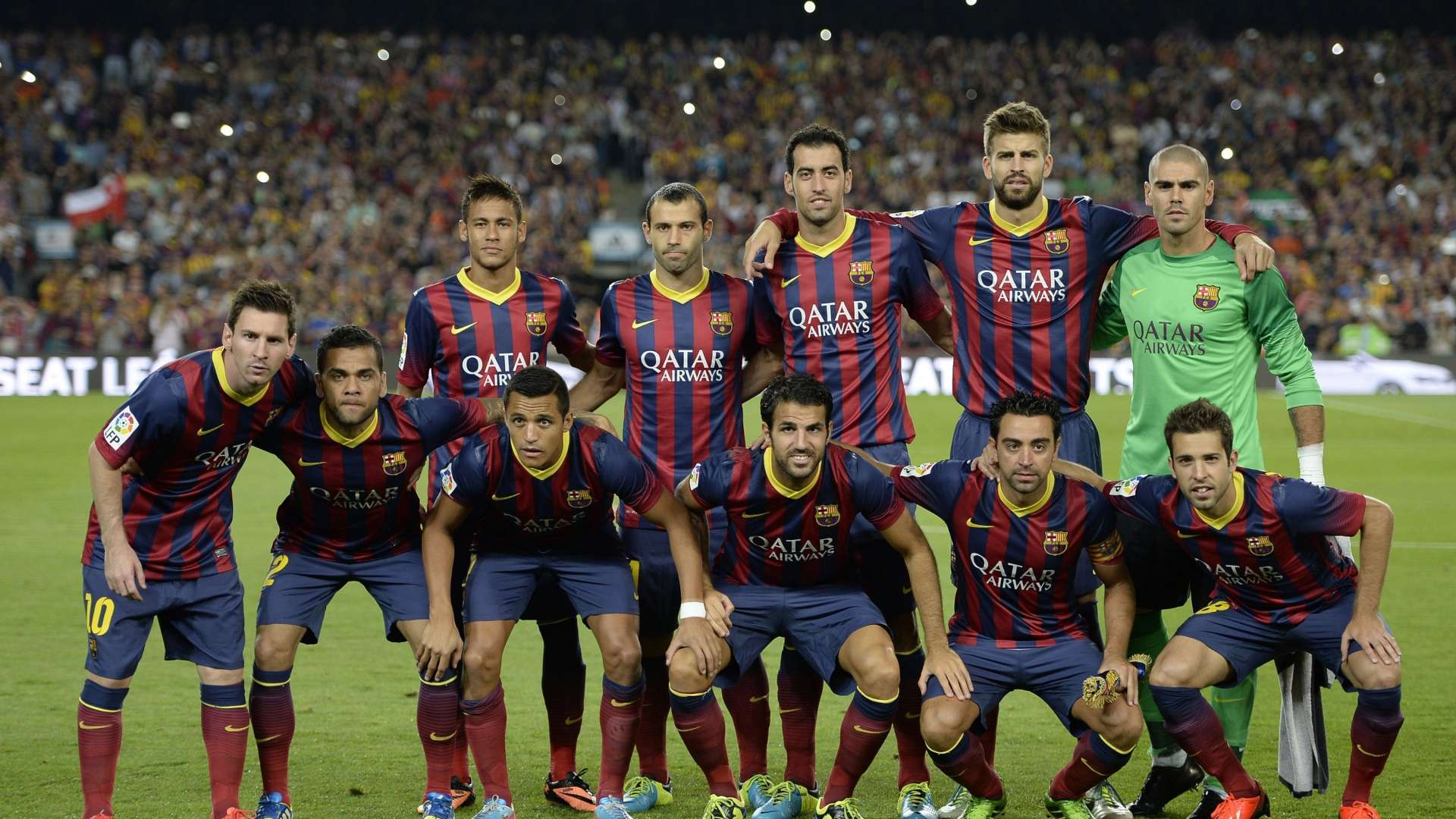 FC Barcelona Team High Definition Desktop Wallpapers 2014