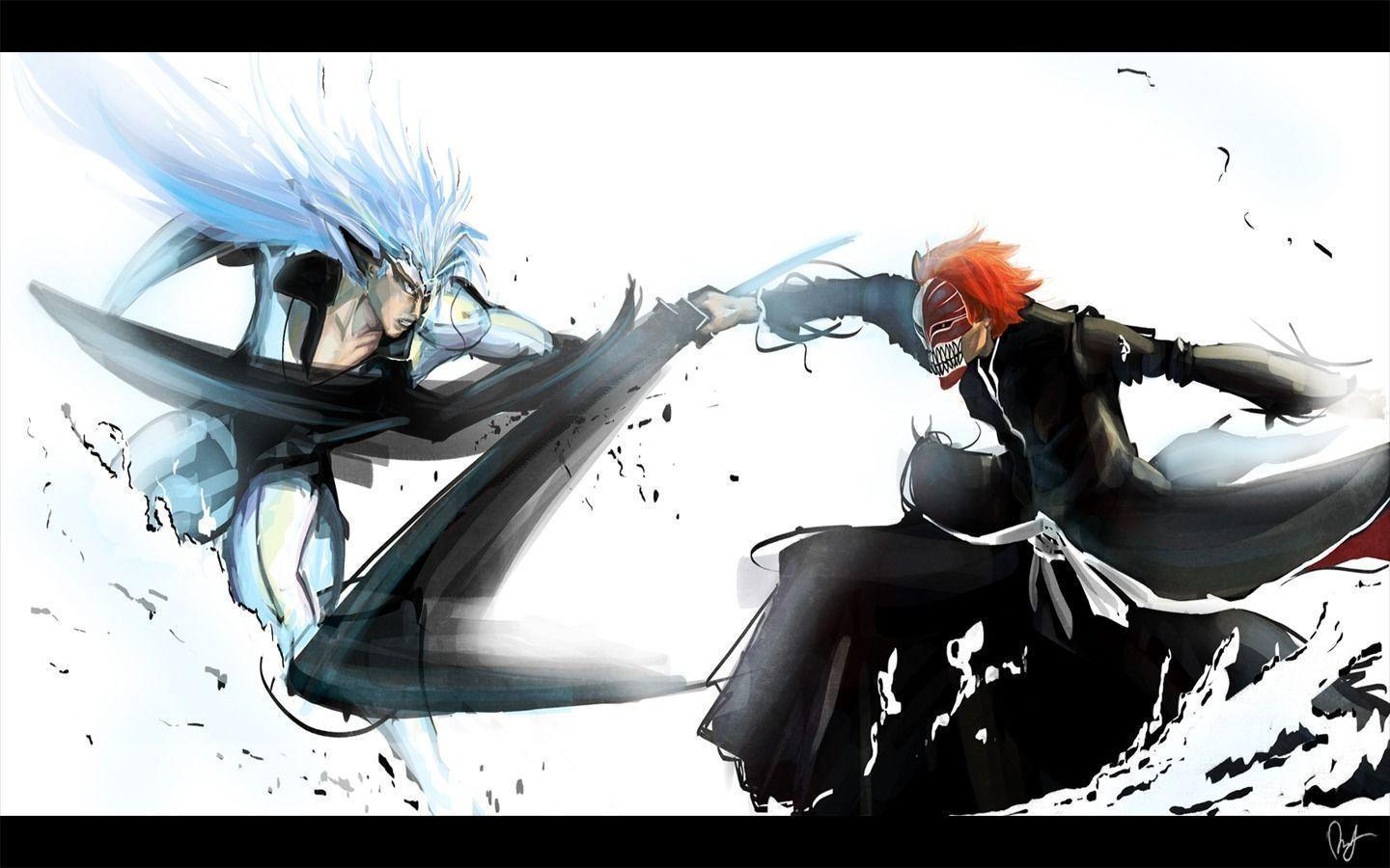 Bleach Ichigo vs Grimmjow Wallpaper | Customity