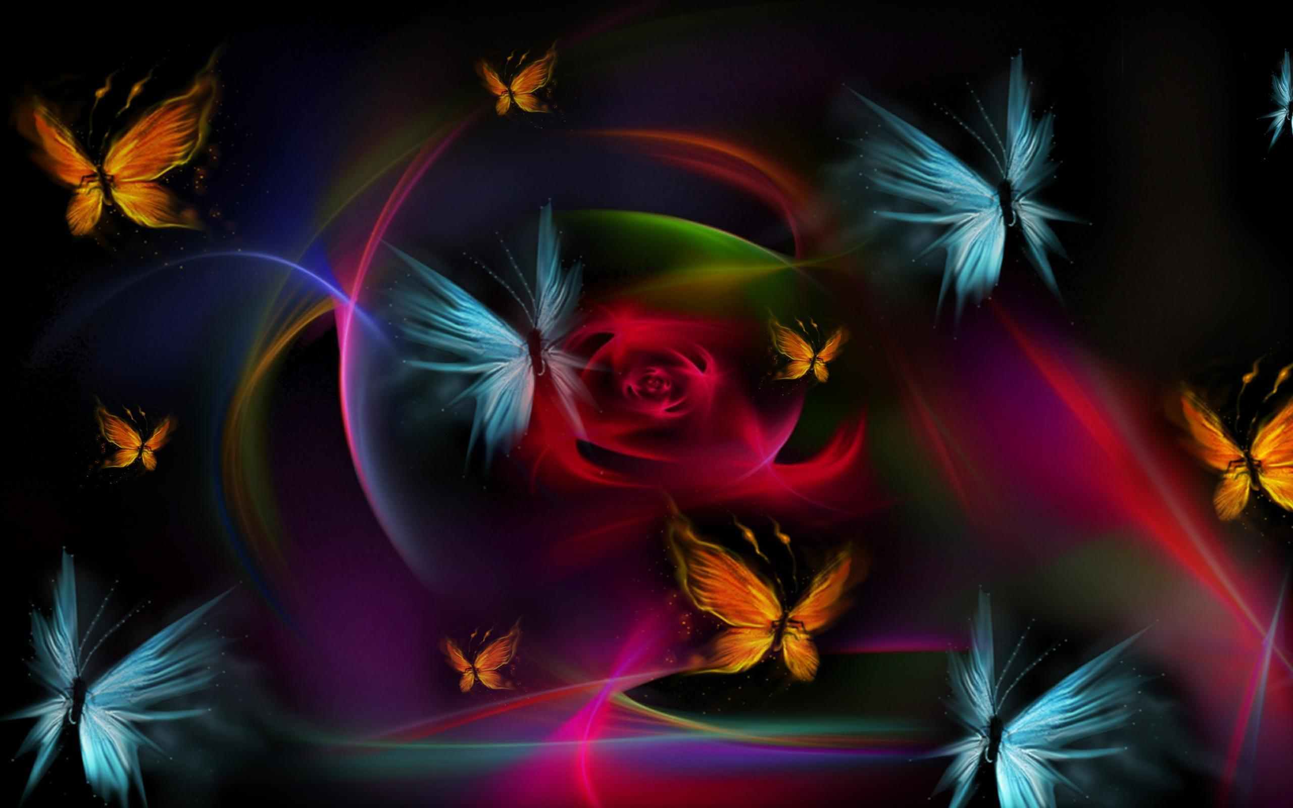 download wallpaper multicolored butterflies - photo #35