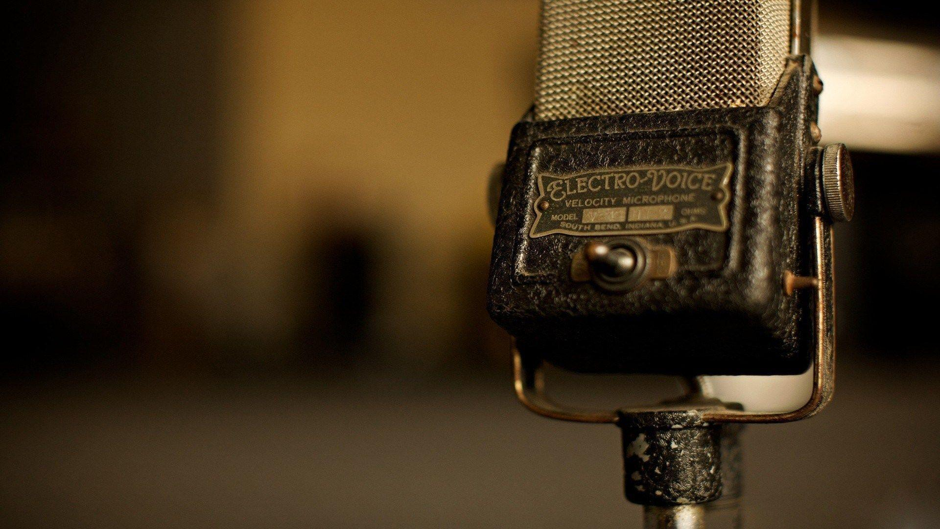 Microphone Vintage Old Music HD Wallpapers Desktop Backgrounds Free