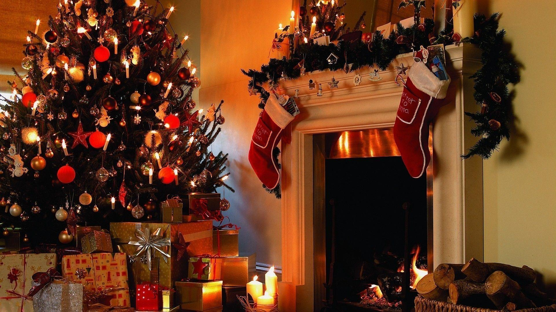 Christmas Fireplace Backgrounds Image Pictures Becuo
