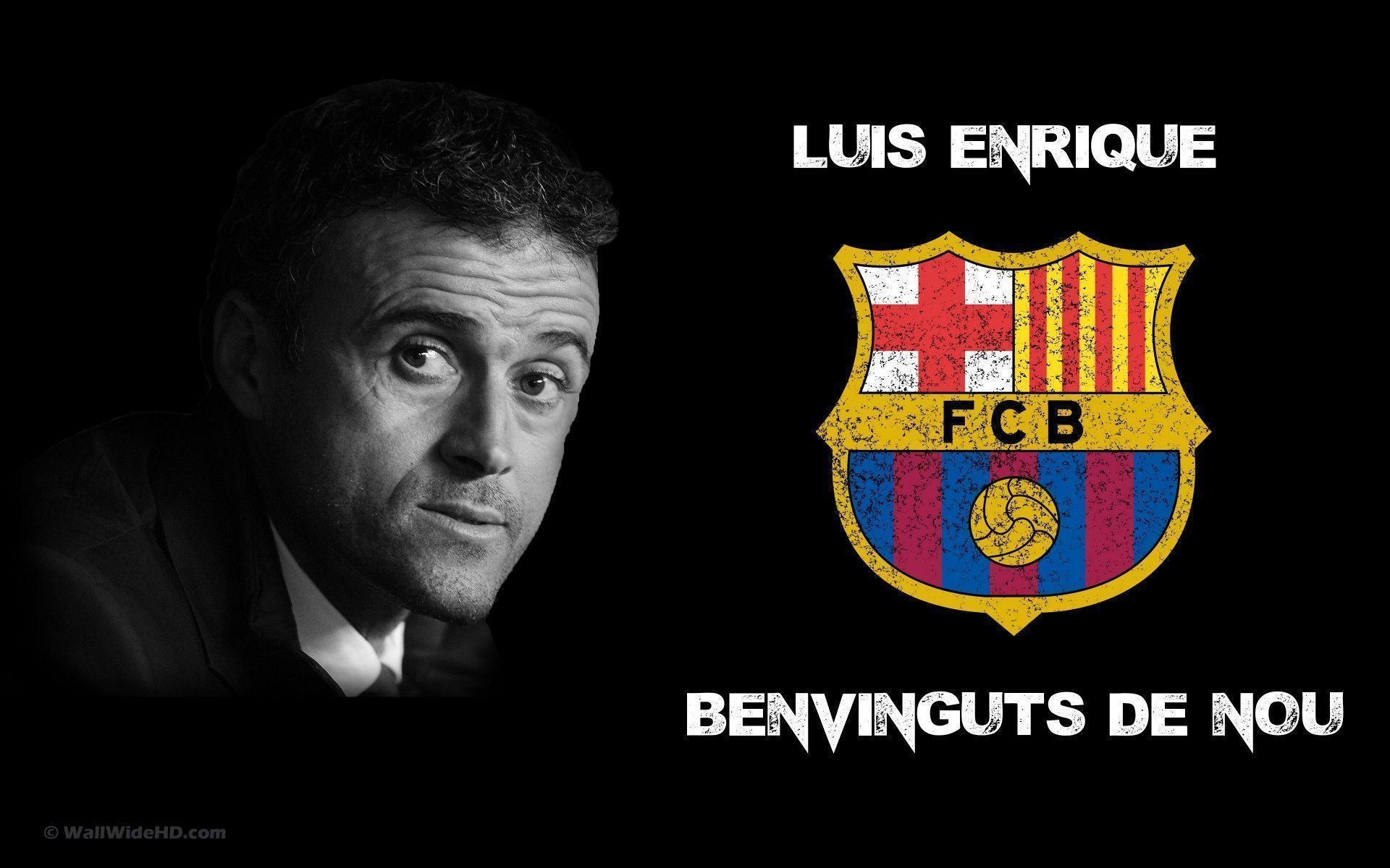 Luis Enrique 2014 FC Barcelona Manager Wallpaper Wide or HD | Male ...