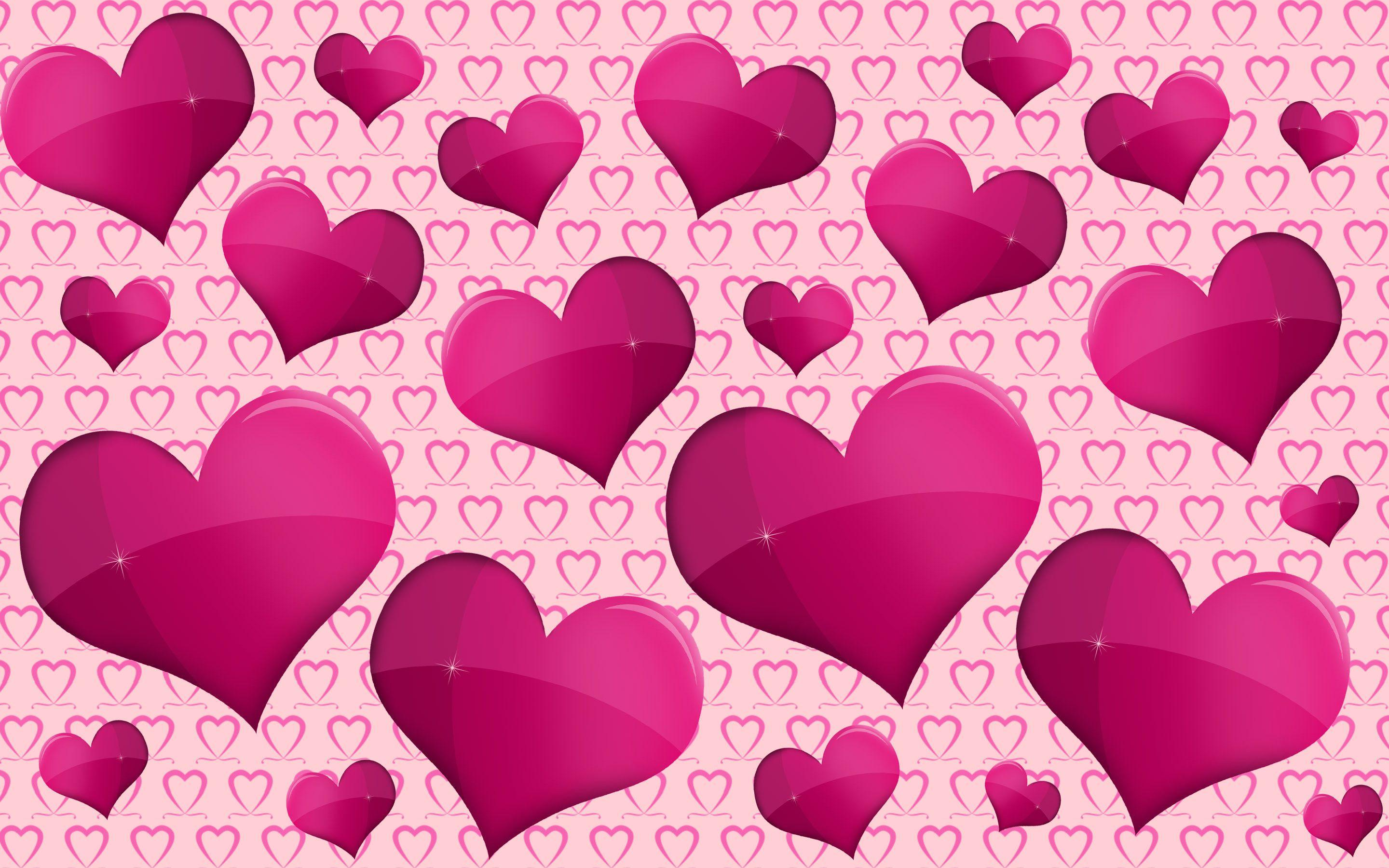 wallpapers purple hearts pink - photo #30