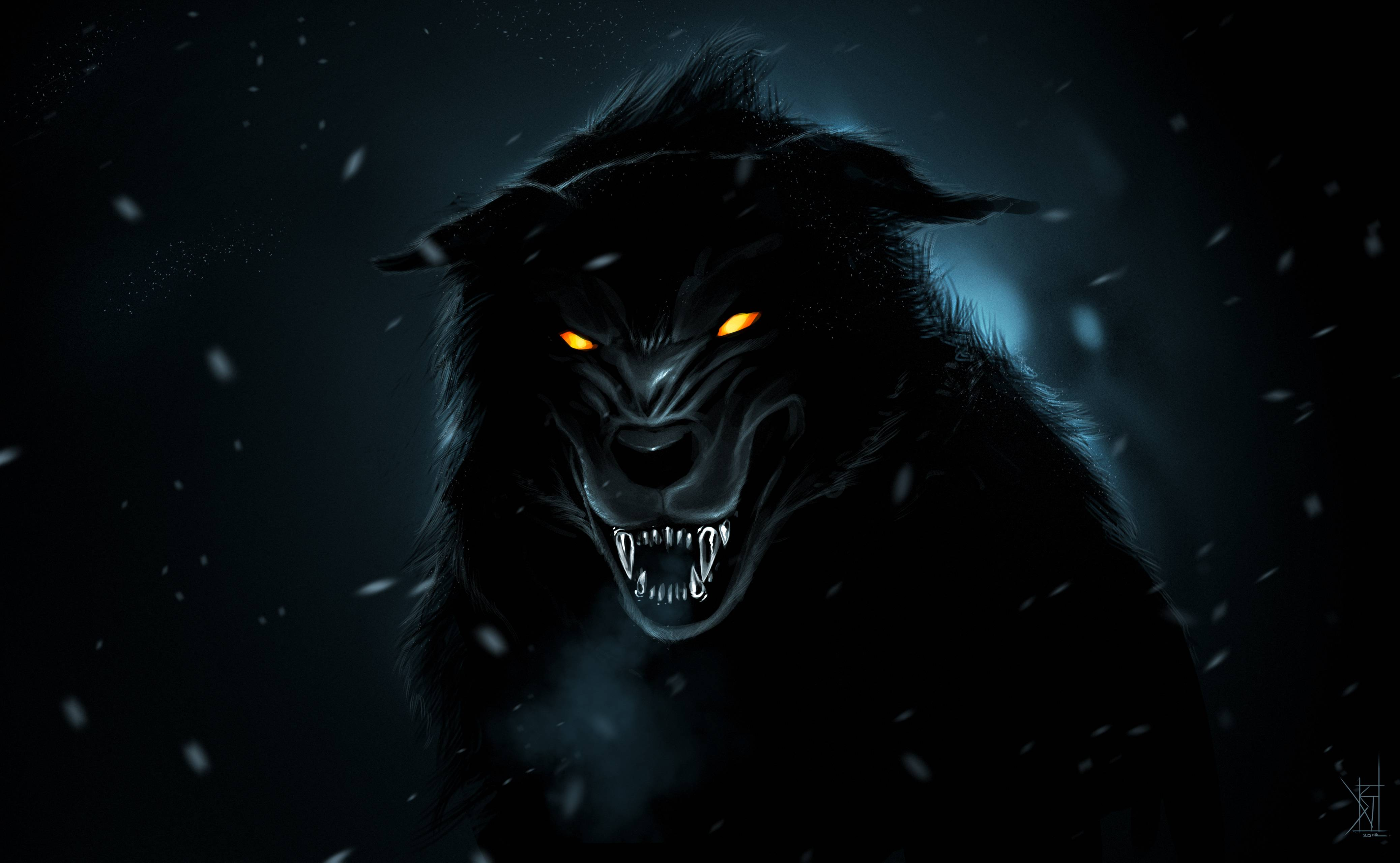 Dark wolf wallpapers wallpaper cave for Paint a dark picture