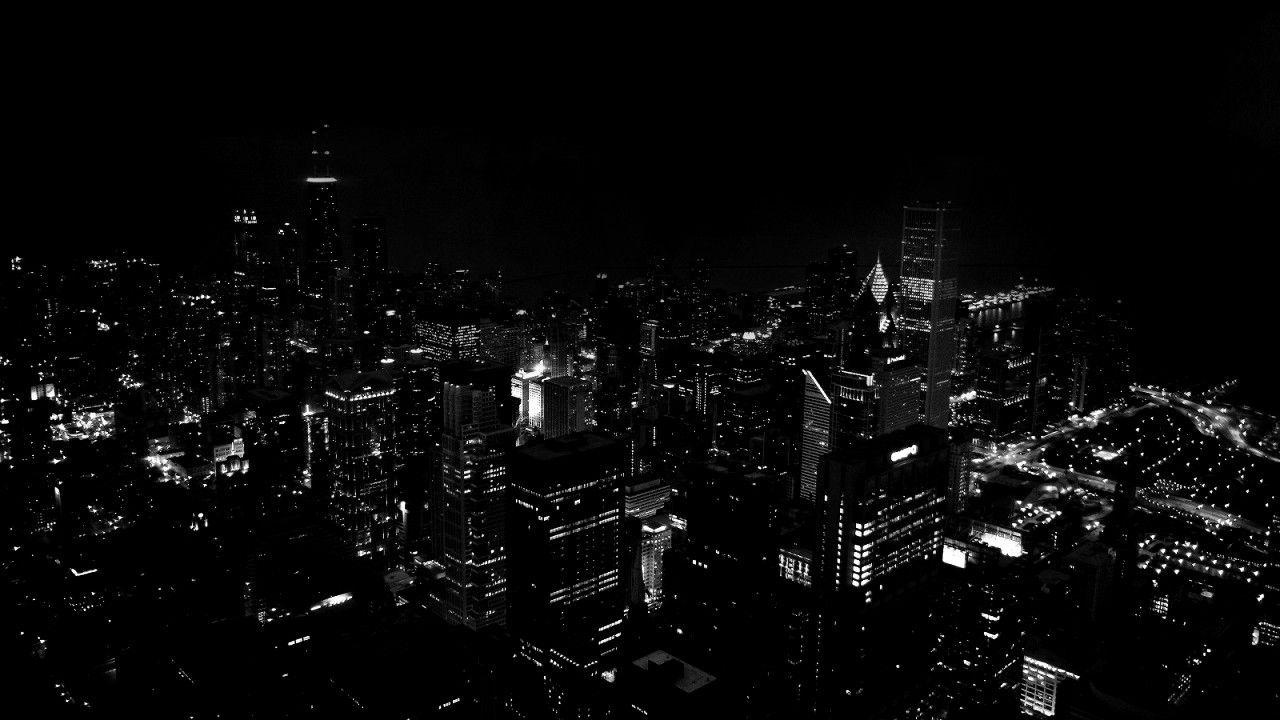 Wallpapers For > Night City Wallpapers Black And White