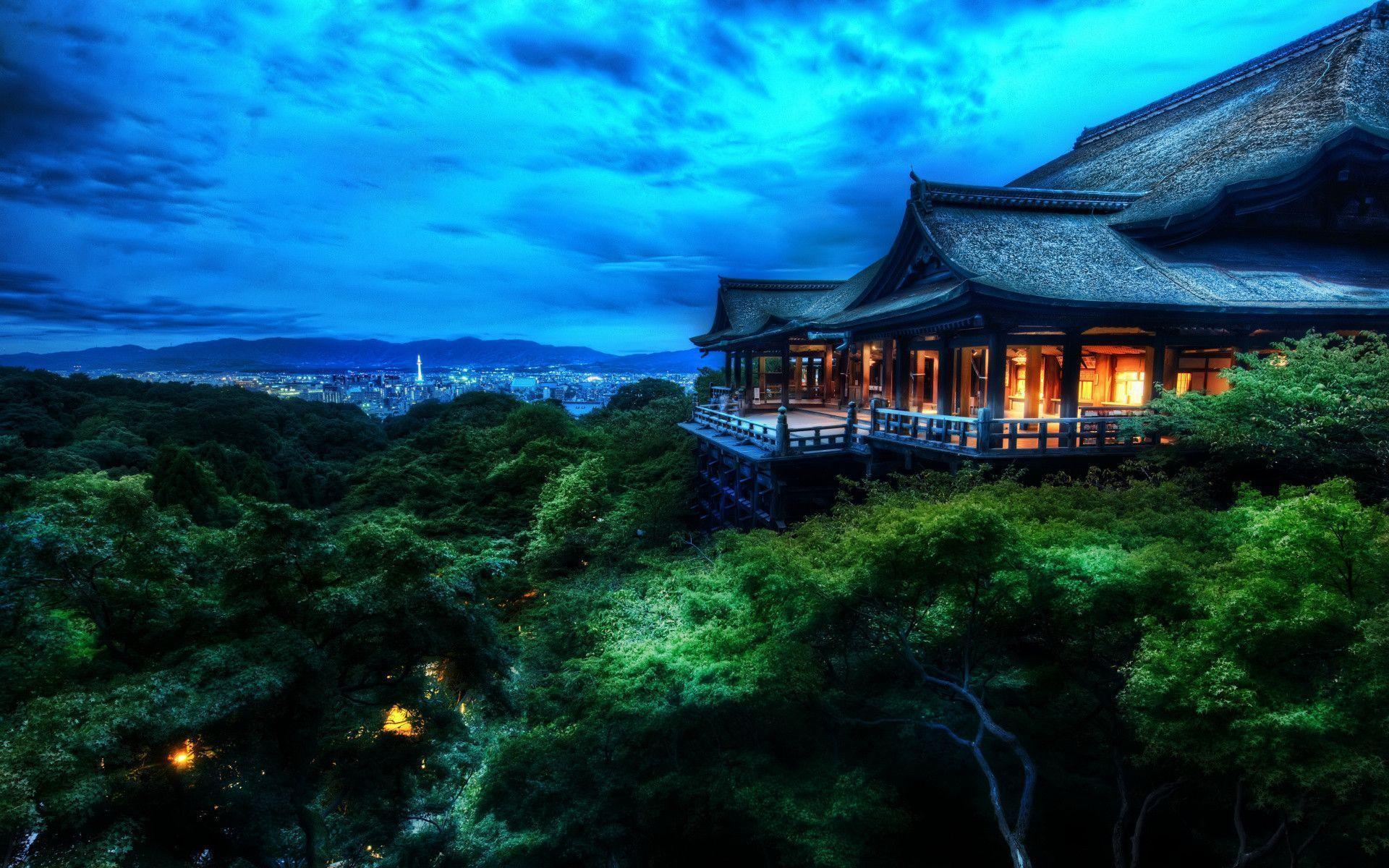 The Treetop Temple Protects Kyoto, Japan HD wallpapers « HD Wallpapers