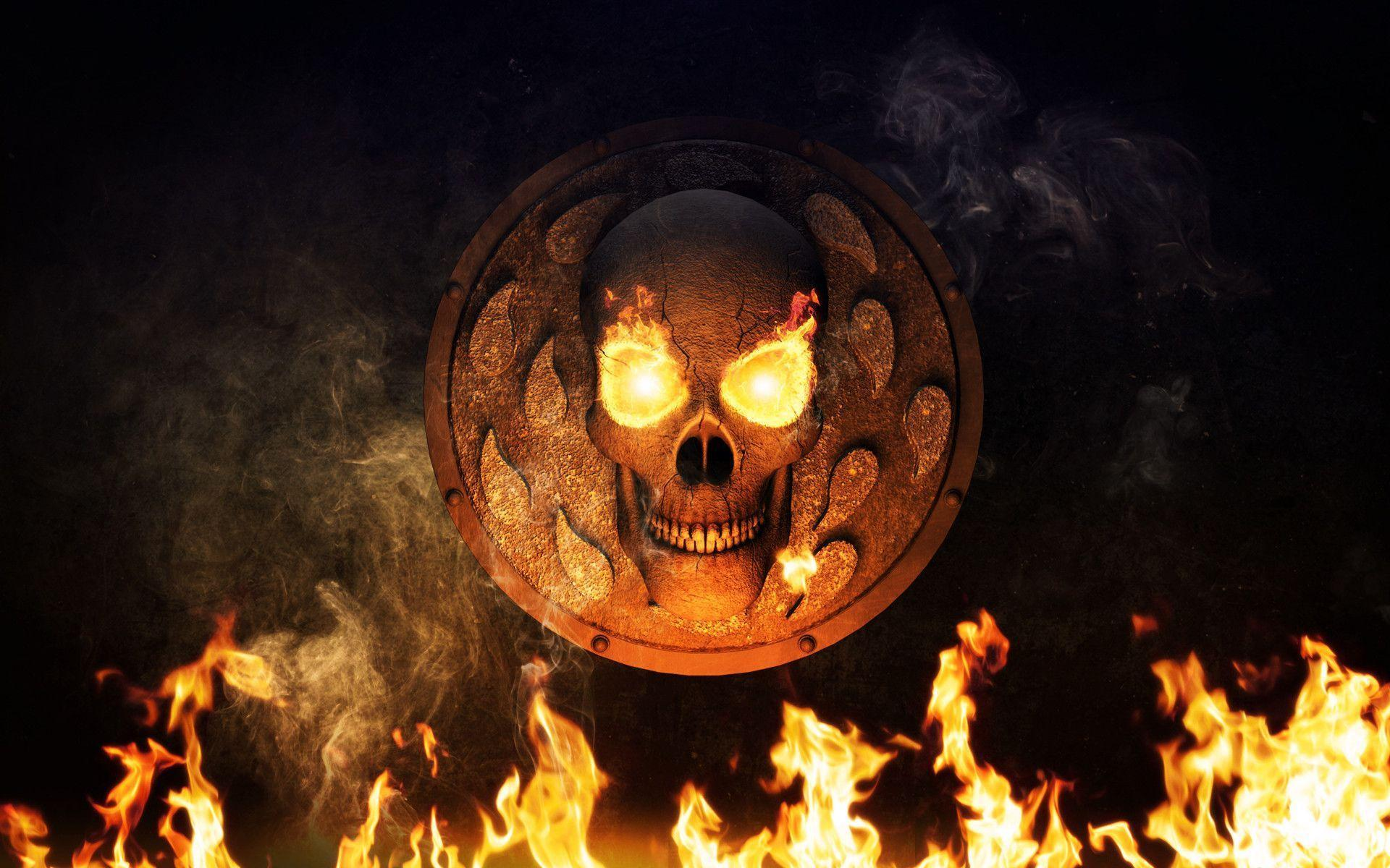 Page 211 Cool 3d Flaming Skull Wallpapers