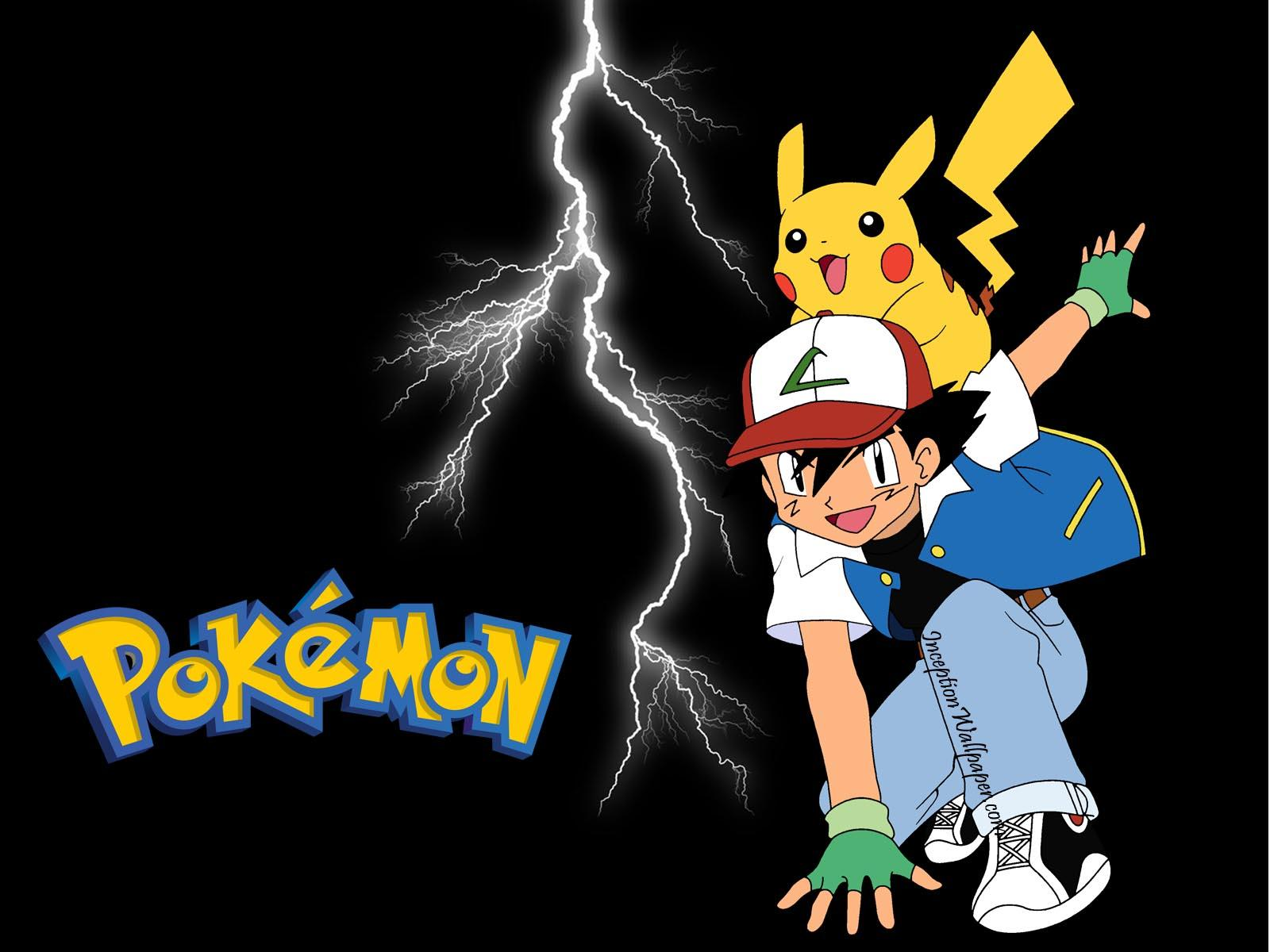 Wallpaper download pokemon - Download Pokemon Ash Pikachu Sobre Raios Papel Parede Wallpaper