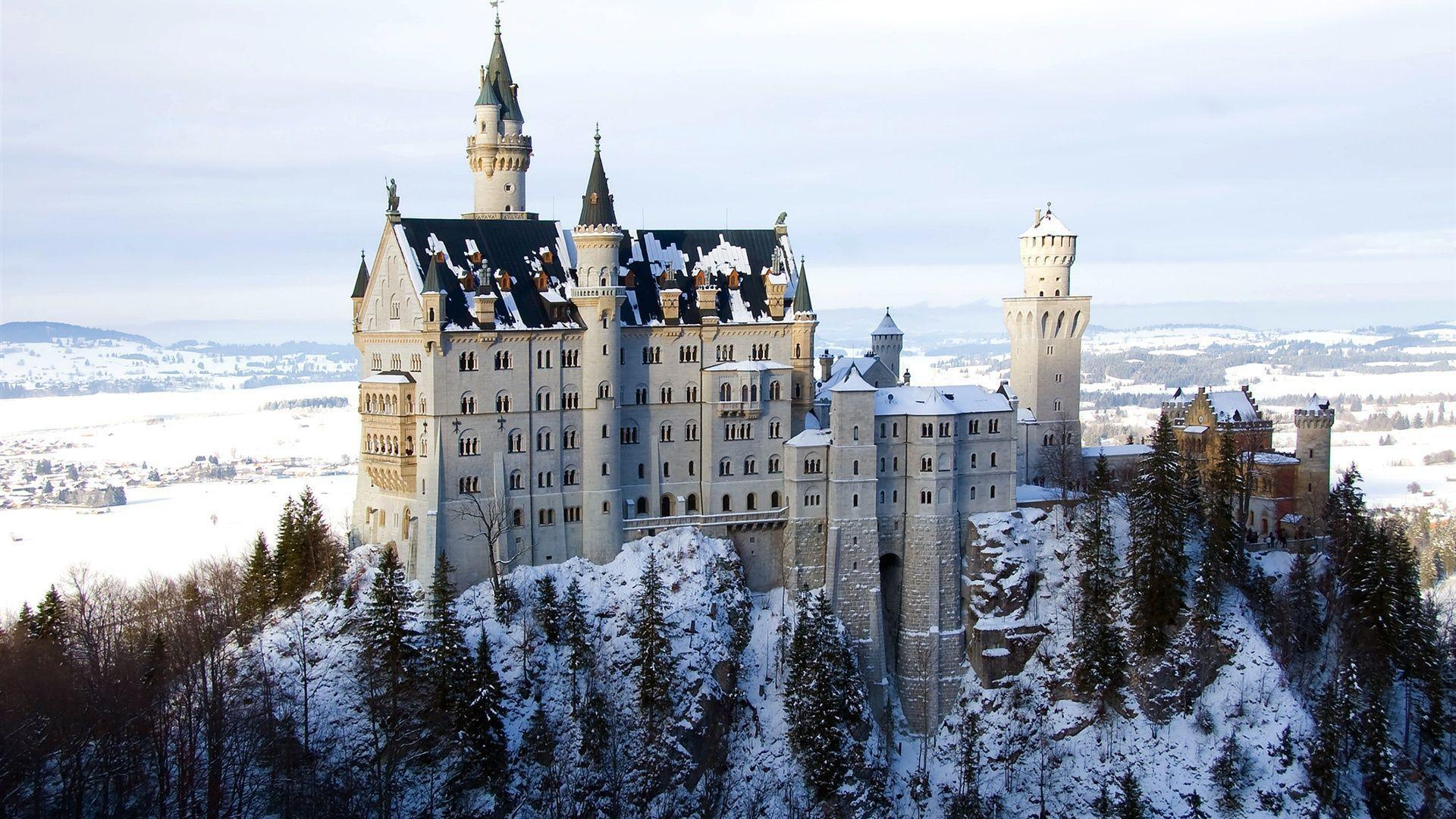 Bavaria castle winter snow Wallpaper | 1920x1080 resolution ...