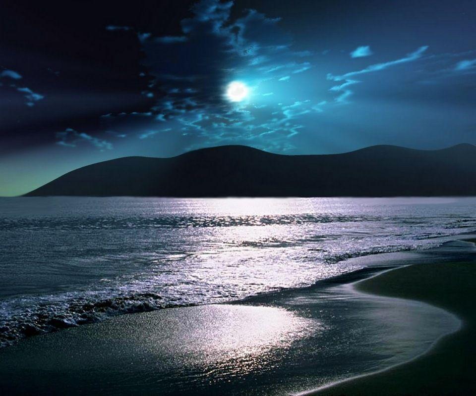 Desktop Wallpaper Hd Beach: Beach At Night Wallpapers