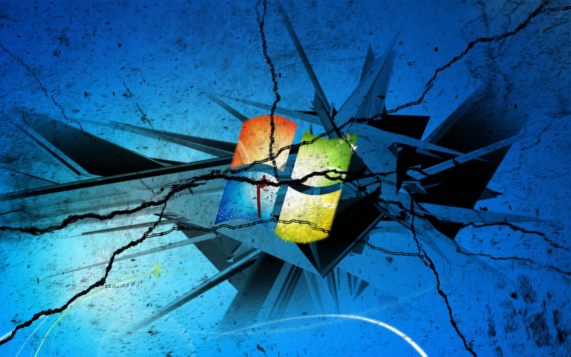 cracked screen wallpaper for - photo #29