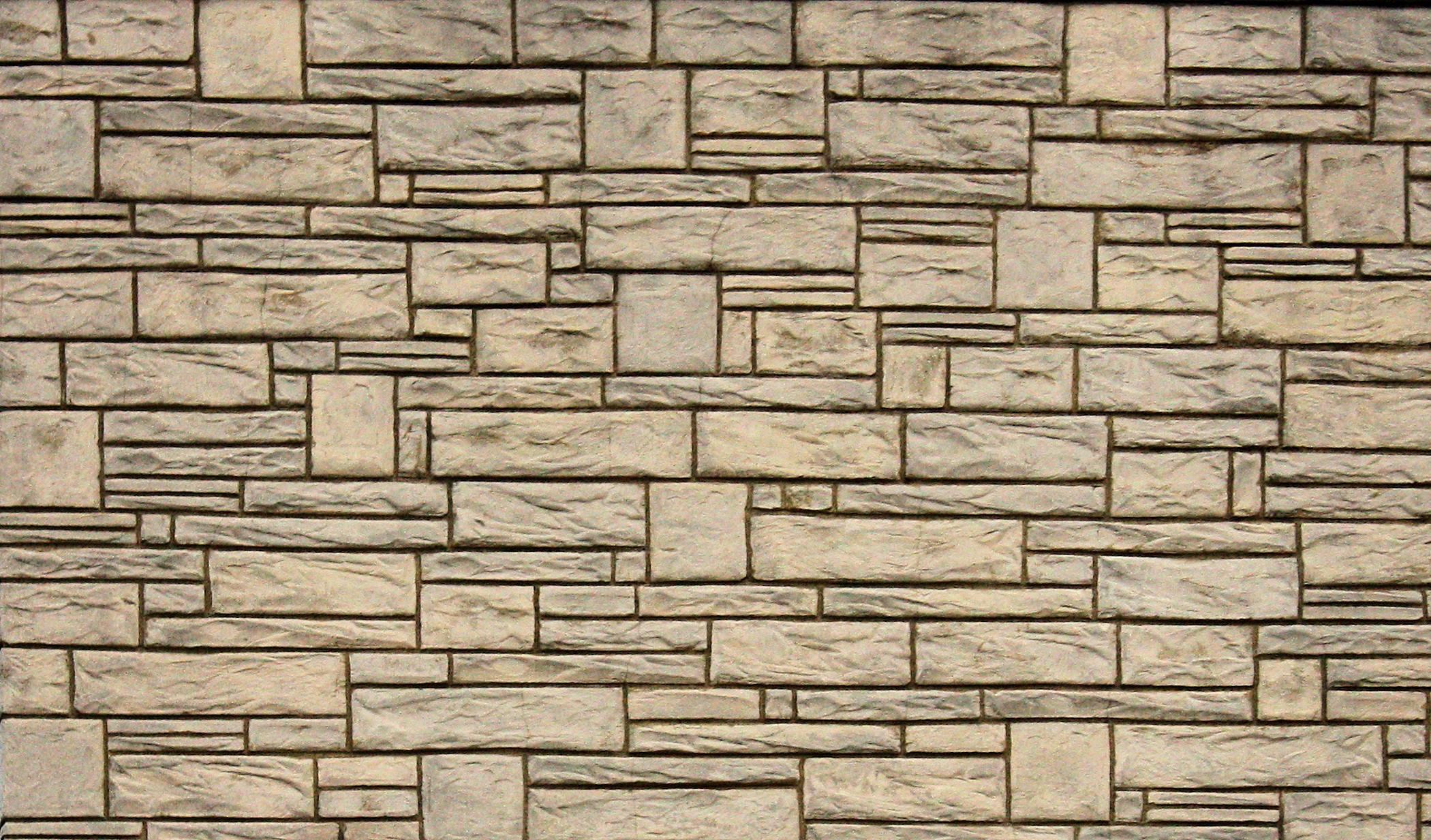 Stone Wall Wallpaper Background Round Designs