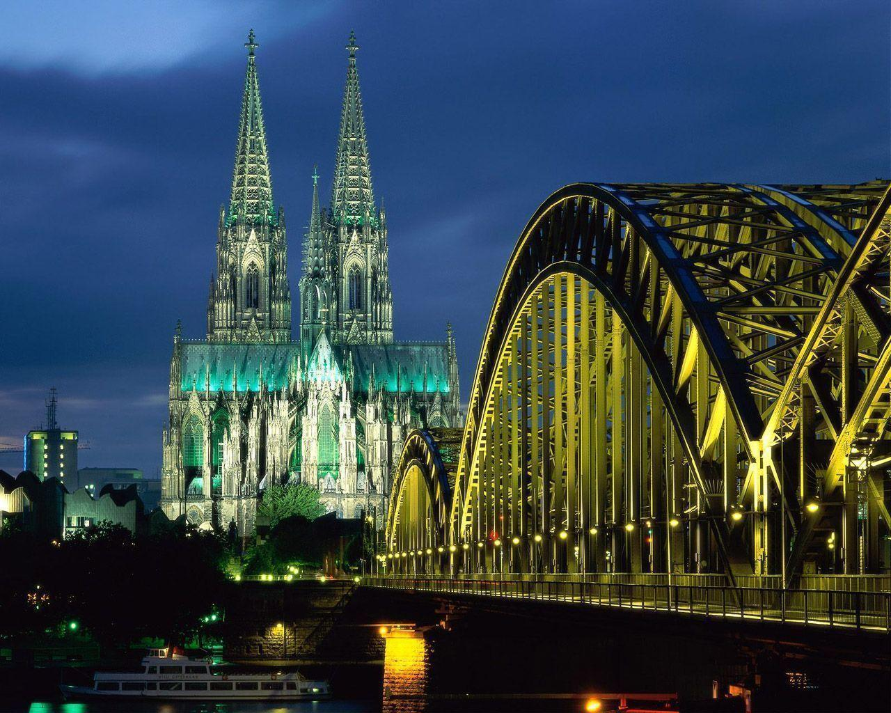 Free Bridge To Gothic Church Wallpapers, Free Bridge To Gothic