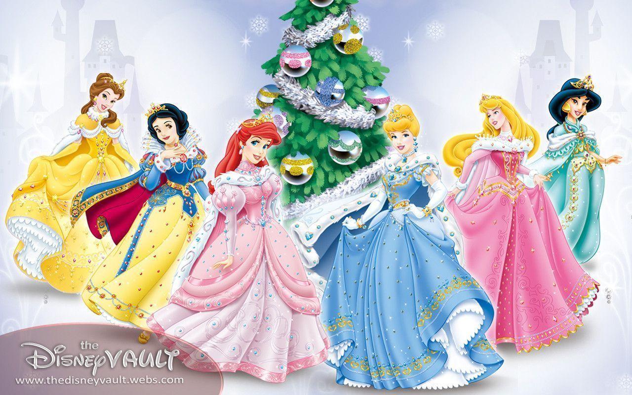 Disney princess christmas wallpapers wallpaper cave - Image de princesse disney ...