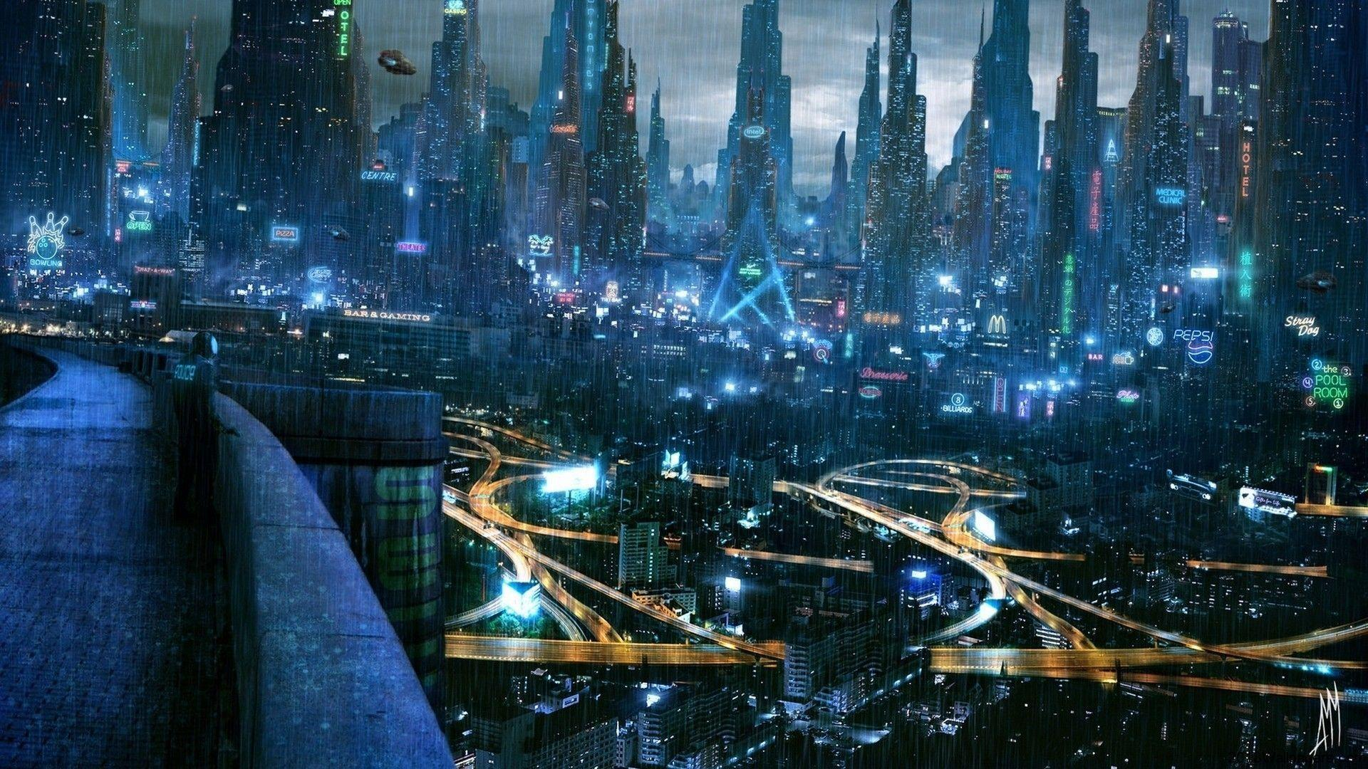 Wallpapers For Futuristic City Wallpaper 1920x1080