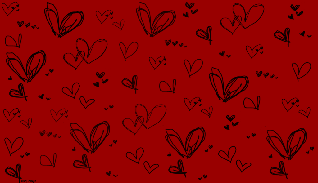 Red Heart With Black Backgrounds