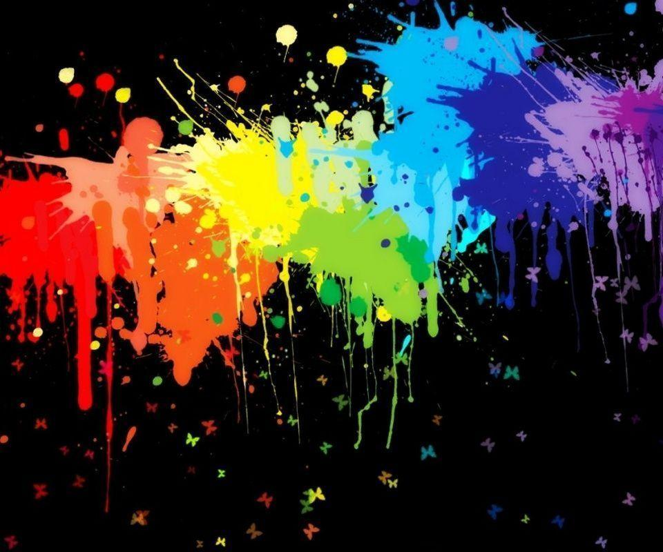 Paint Rainbow Girl Wallpapers: Color Splash Wallpapers