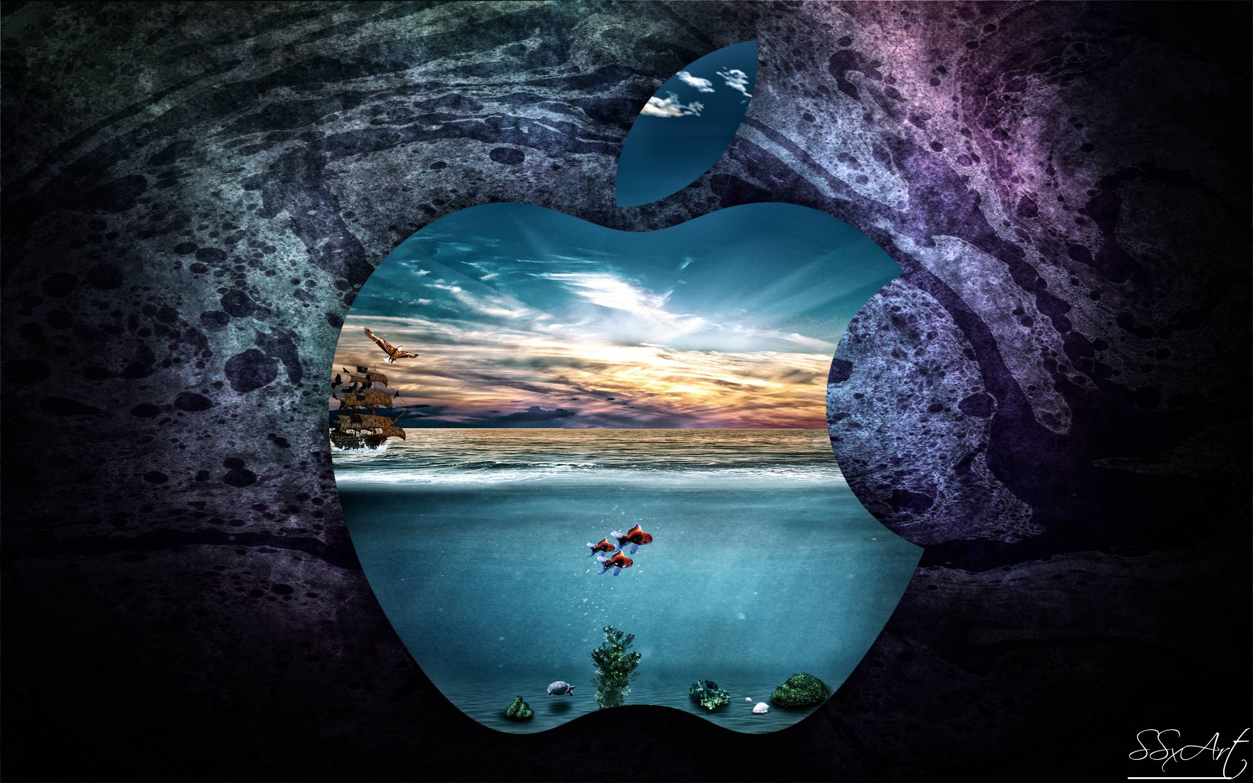 apple underwater macbookpro 13inch retina display by ssxart on