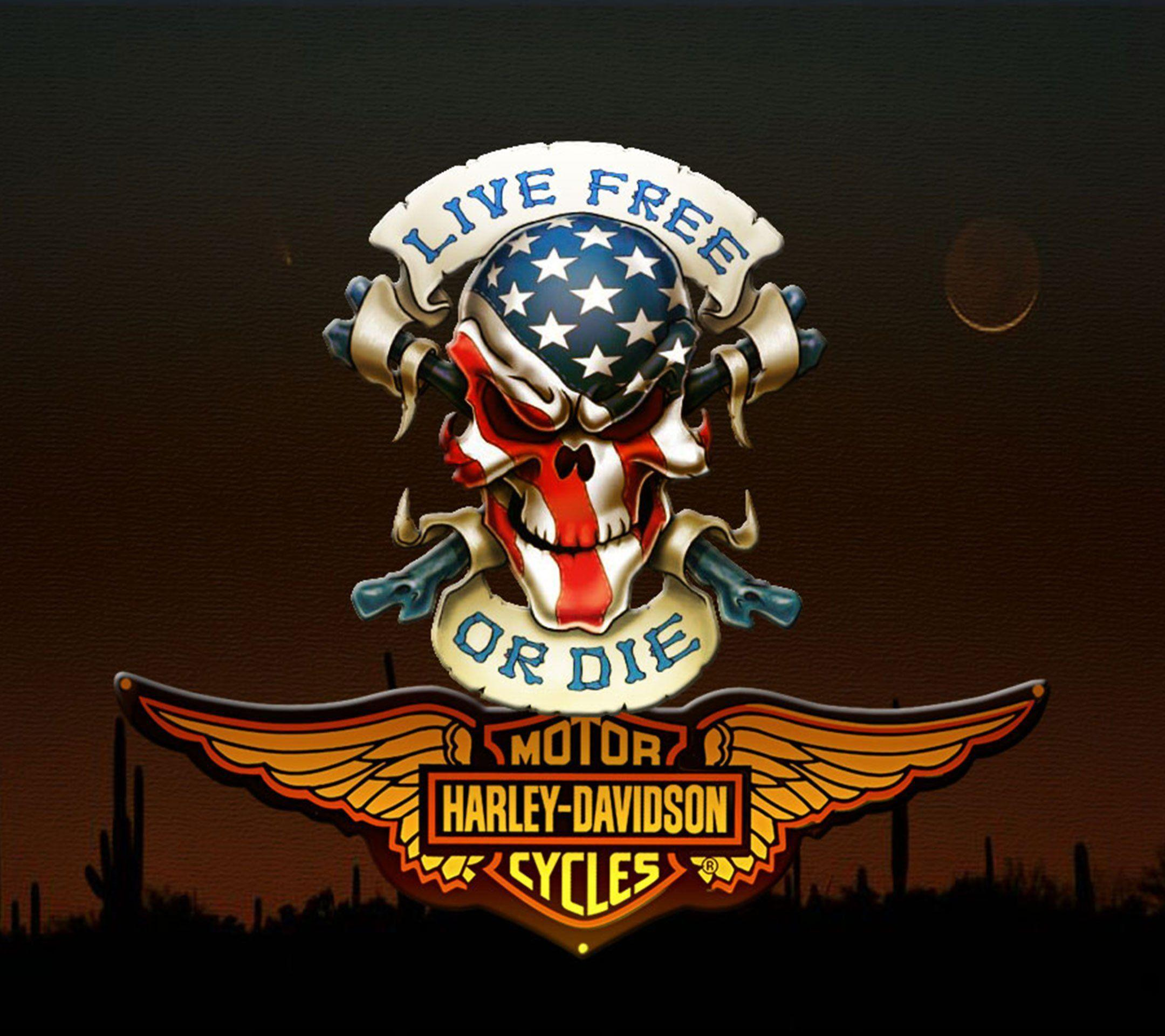 newest harley davidson logo wallpapers - photo #14
