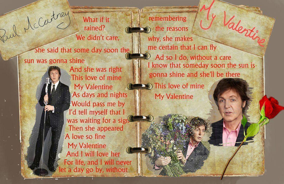 Paul McCartney My Valentine Wallpapers by SpiritualSketcher on
