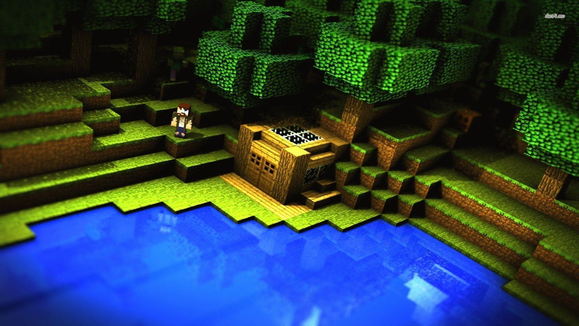 wallpaper hd minecraft green - photo #44