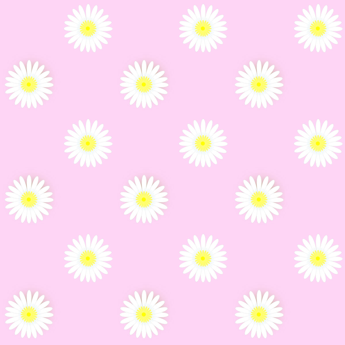 Daisy pattern wallpaper - photo#55