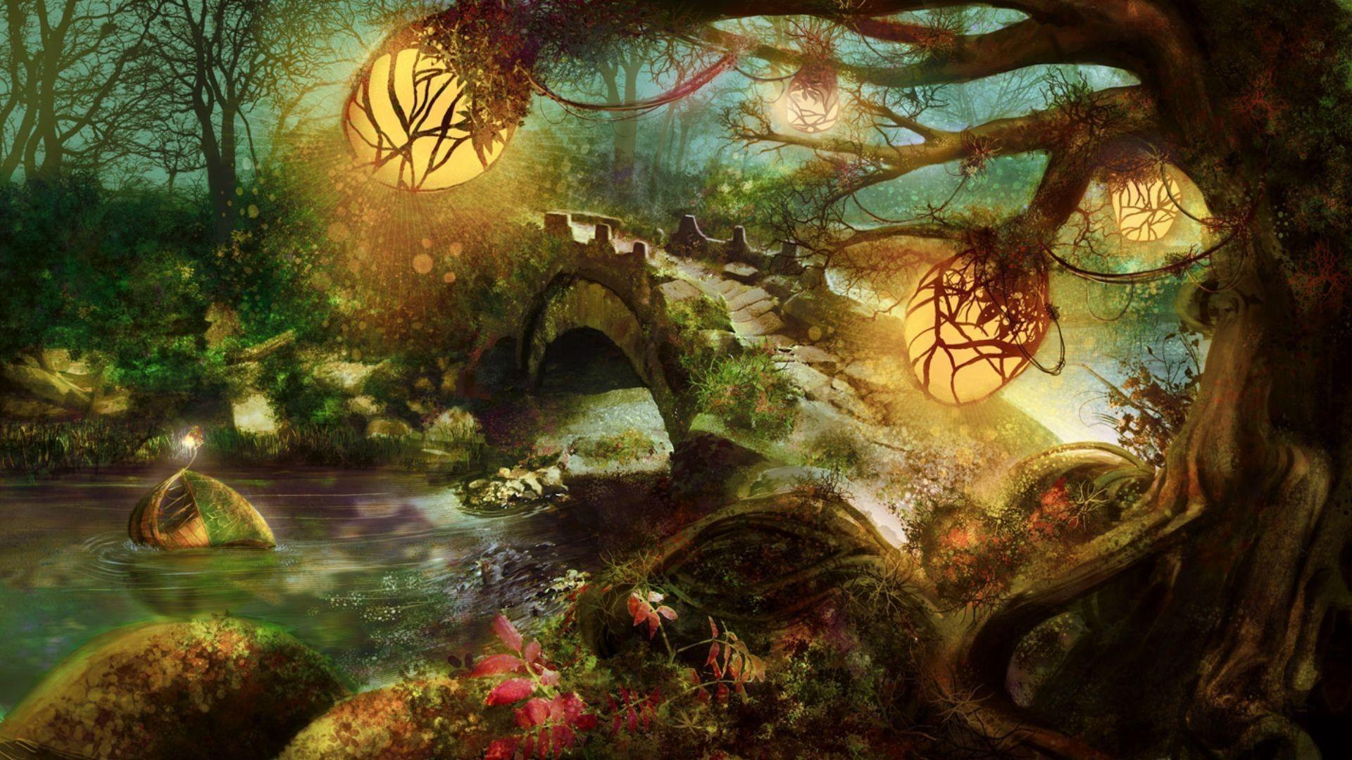 Fantasy forest wallpapers wallpaper cave for El mural pelicula online