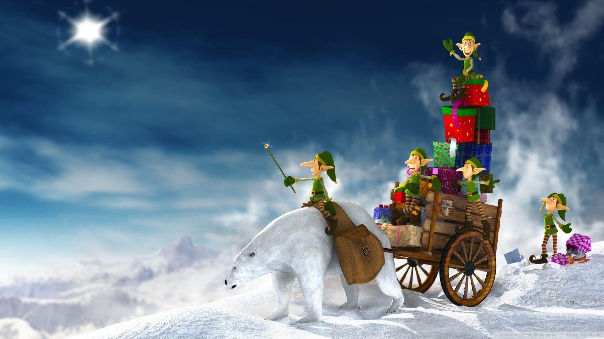 Download Christmas Elves 3d Wallpapers 1920x1080