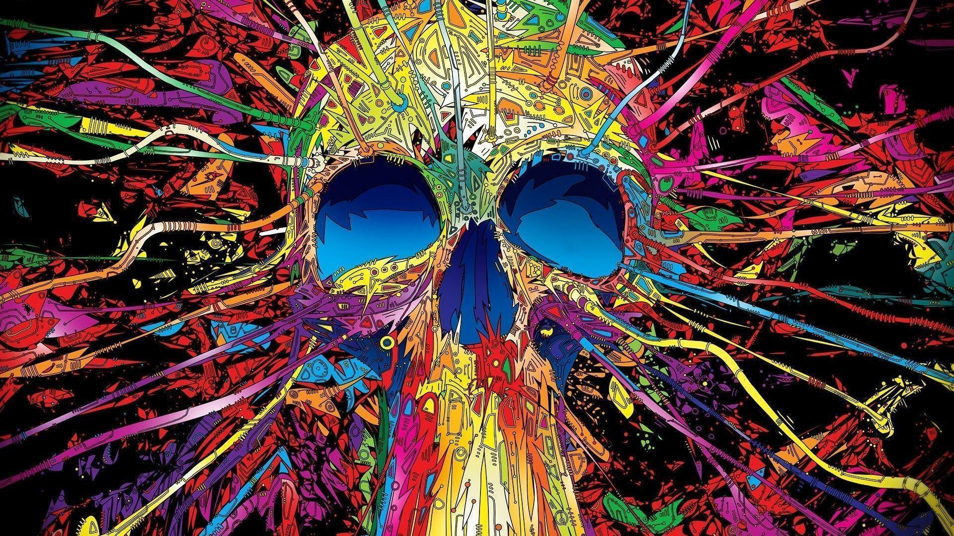 Psychedelic skull Wallpapers #