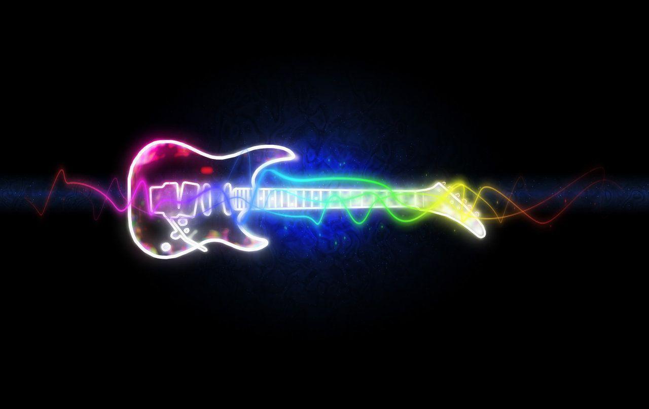8589130490590 Rainbow Music Notes Wallpaper Hd Jpg: Electric Guitar Wallpapers