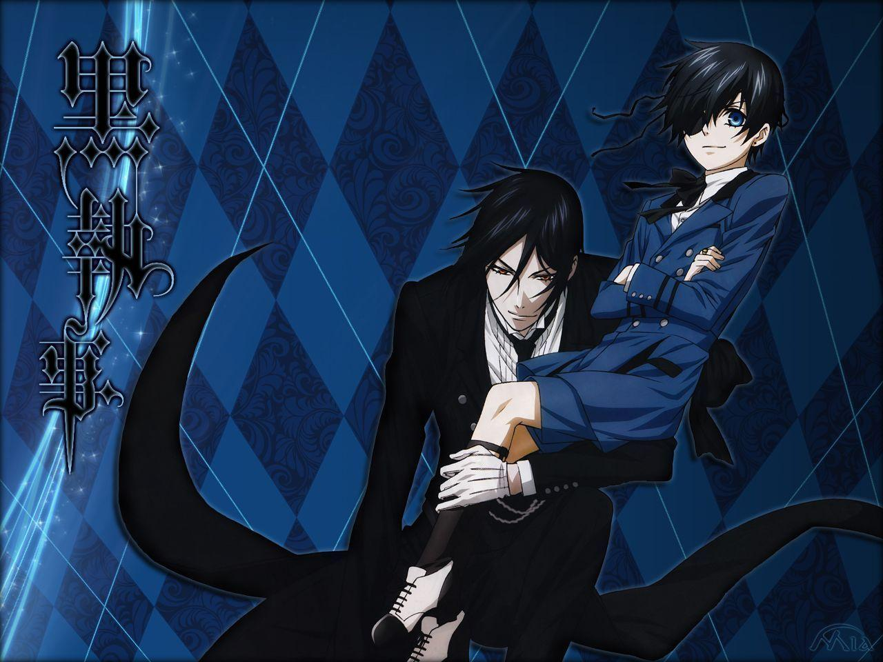 Images For > Black Butler Wallpaper Ciel And Sebastian Kiss